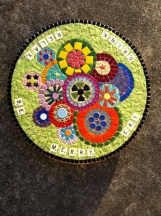Dina's lazy susan before grouting