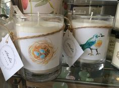 Studio on Tenth is full of unique and beautiful handmade gifts. Here you will find natural soy candles, cotton tea towels and gifts for baby. Nest Candles, Soy Wax Candles, Glass Jars, Glass Of Milk, Small Boxes, Tea Towels, Decorating Your Home, Baby Gifts, Etsy Seller