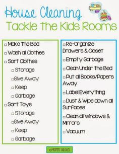 Cleaning House- Kids Rooms