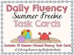 Summer Fluency Task