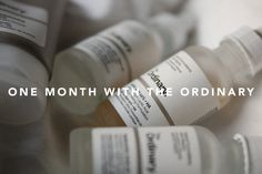 I USED ONLY THE ORDINARY PRODUCTS FOR A MONTH  BEYOUI