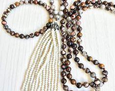 #forher#necklace#handmade#Boho#ethnic#jewlery#gifts#mala#style  gift women xmas, bead set jewelry, ooak jewlery set, chocolate jewlery set, jewlery gift set, daily chic jewelry set, favorite set jewelry