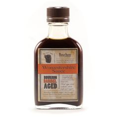 Bourbon Barrel Aged Worcestershire Sauce is a unique take on the  traditional all-purpose seasoning. We developed a sauce that utilizes  the flavors of Kentucky's Bourbon country. It's sweetened with sorghum,  blended with pure Kentucky limestone spring water, and mellowed in  bourbon barrels that were used to age some of the Bluegrass State's  finest Bourbons. It also is vegetarian and contains no anchovies.