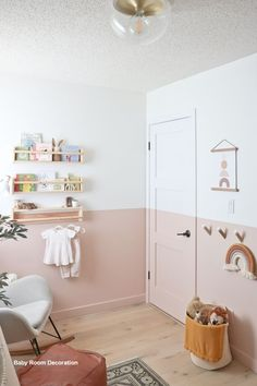 The Nursery Reveal – Baby Girl E's New Room baby girl nursery, nursery reveal, pink nursery, modern baby nursery<br> Incredibly excited to show off our baby girl's nursery reveal - a soft and serene space with modern pink and some beautiful details!
