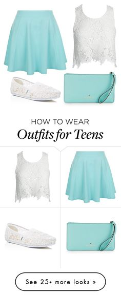 """""""Untitled #1134"""" by smile-becauseyoucan on Polyvore featuring Sans Souci, TOMS, New Look and Kate Spade"""