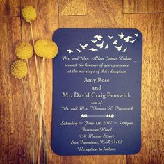 Coastal Birds Wedding Invitation Designed by #tinythimble & made by #zazzle  #weddinginvitation