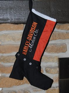 Harley Davidson Black and Orange Christmas by Ifoundthis4u on Etsy
