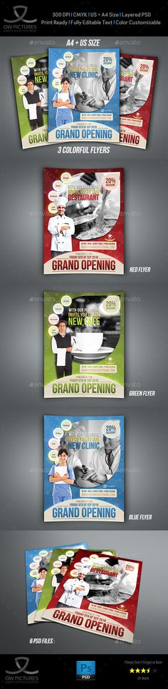 Multipurpose Flyer Template 3 | Flyer Template, Mobile App And