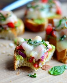 Italian Bruschetta Provolone Melts with Smashed Avocado is the BEST way to eat brushcetta- The Spice Kit Recipes