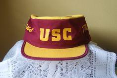 Vintage USC, Trojans, Painter's Cap, Hat, One Size, University of Southern…