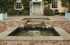 another square pond. Pond Waterfall, Patio, Landscape, Ponds, Waterfalls, Outdoor Decor, Gardens, Image, Google Search