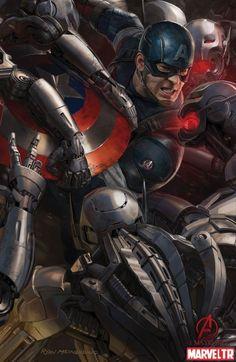 Ryan Meinerding tarafından Kaptan Amerika konsept çizimi Yenilmezler:Ultron Çağı