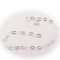 Sterling Silver Flat Heart Link Charm Anklet Nickel Free Italy Adjustable 9.5 Inch Bracelets, Anklets by Joyful Creations http://www.amazon.com/dp/B00BJ82H08/ref=cm_sw_r_pi_dp_BFJzub1NQVSQ5