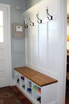 Entryway Bench Coat Rack, Hallway Coat Rack, Door Bench, Hallway Bench, Hallway Storage, Wall Coat Rack, Bench Mudroom, Entry Bench, Closet Mudroom