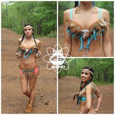 Native American Bra Rave Wear by KandiPoppersShop