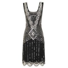 Athena Black Sequin Gatsby Gown from Frock and Frill, Check it out