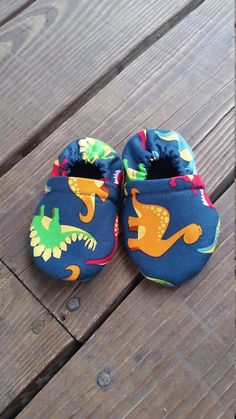 Navy Dinosaur Soft Sole Toddler Shoes by SarahBethCo size 2T