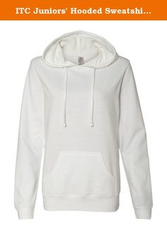 ITC Juniors' Hooded Sweatshirt SS650. 6.5 oz., 60/40 cotton/polyester, 24 singles Gunmetal Heather is 75/25 cotton/polyester Split-stitch double-needle sewing throughout Metal eyelets with flat drawcord and unlined hood Front pouch pocket 1x1 rib cuffs and waistband Twill neck tape .