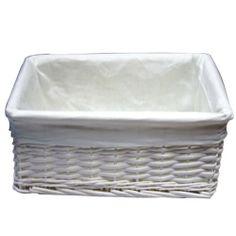 JVL White Willow Storage Basket - Large