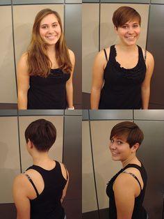 Tina's Pixie Haircut