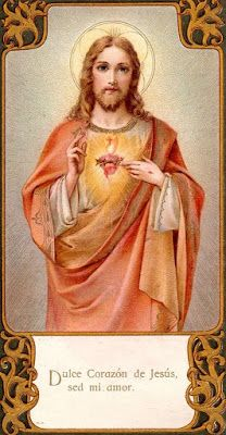 """""""Sweet Heart of Jesus, be my love"""" Jesus Our Savior, Heart Of Jesus, Jesus Is Lord, Pictures Of Christ, Jesus Christ Images, Image Jesus, Jesus E Maria, Vintage Holy Cards, Spiritual Images"""