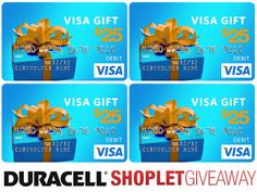 Our weekly giveaway is sponsored by Duracell! Click on the link to read more! Brought to you by Shoplet.com - Everything for your business. #Giveaway