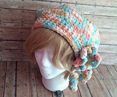 Slouchy Beanie Crochet Beanie Hat Crochet Beanie Pastel Colored Hat Winter Head Gear Winter Wear Winter Hat Polyester Hat