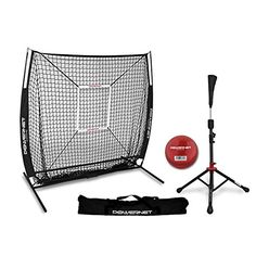 Discounted PowerNet 5x5 Practice Net + Deluxe Tee + Strike Zone + Weighted Training Ball Bundle | Baseball Softball Pitching Batting Coaching Pack | Work on Pitch Accuracy | Build Confidence at The Plate #PowerNet5x5PracticeNet+DeluxeTee+StrikeZone+WeightedTrainingBallBundle|BaseballSoftballPitchingBattingCoachingPack|WorkonPitchAccuracy|BuildConfidenceatThePlate Better Baseball, Reds Baseball, Baseball Field, Pro Baseball, Baseball Players, Softball Pitching, Soccer Drills, Basketball Hoop