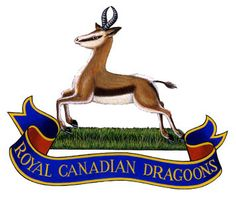 Cap badge of The Royal Canadian Dragoons. The Royal Canadian Dragoons (RCD) is an armoured regiment of the Canadian Army. It is one of three armoured regiments in the Regular Force and forms part of the Royal Canadian Armoured Corps. Military Cap, Military Insignia, Canadian Army, Military History, Coat Of Arms, Art Logo, Armed Forces, Troops, Firefighter
