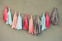 DIY: fabric tassel garland