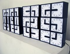 Clock made out of clocks - Imgur