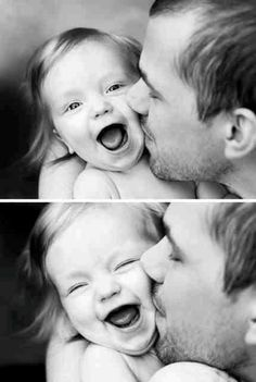 So cute, Love the daddy and child photo shoot!