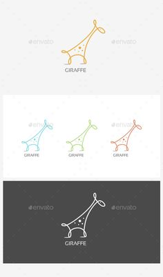 Giraffe Logo Template Vector EPS, AI. Download here: http://graphicriver.net/item/giraffe-logo/15117931?ref=ksioks