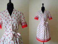 Vintage 1940's Floral Feedsack Dress / Rosebud / by OurTownVintage