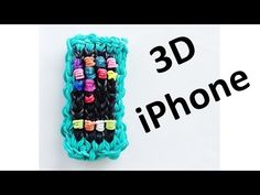 Rainbow Loom 3D IPHONE Charm. Designed and loomed by DIY Mommy. Click photo for YouTube tutorial. 08/02/14.
