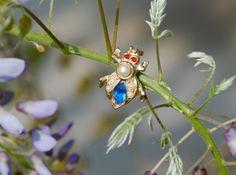 Beetle Rhinestone Brooch