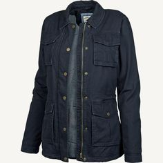 NEW FAT FACE EVIE FOUR POCKET NAVY BLUE COTTON JACKET COAT 6 to 16 RRP £85