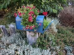 Recycle an old mailbox for a unique planter in your garden