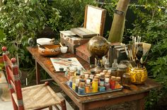 An evocation of Frida Khalo's desk Frida Kahlo at the New York Botanical Garden – in pictures