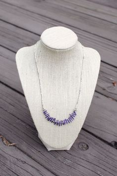Sterling Silver and Dark Purple Coral Beaded by CherryBlossomMuse, $24.99