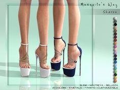 Second Life Marketplace - MW - Sharon Ballet Heels, Shoes Heels Pumps, High Heels Stilettos, Stiletto Heels, Thigh High Heels, Super High Heels, Black High Heels, The Sims, Crazy Heels