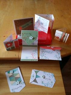 June 2015 outside of the Paper Pumpkin box. I made 8 different designs and a total of 30 cards.  I love this product. Order your own Paper Pumpkin kit today. Go to: www.paperpumpkin.com and mark I have a Demonstrator;  Rachel Markin. Enjoy your own magical get away each month.