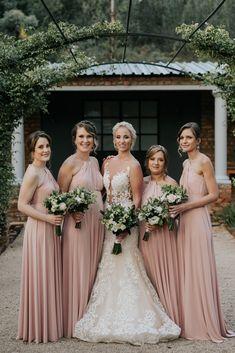 Natasha's bridesmaids wore out beautiful Adele Dress in soft peach. Our Adele has a beautiful twisted halter neckline. Bridesmaids, Bridesmaid Dresses, Wedding Dresses, Adele Dress, Beautiful And Twisted, Halter Neck, Dress Making, Designer Dresses, Peach