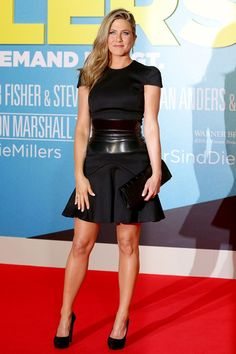 Best Dressed of the Week - 08/16/13 | We're The Millers premiere, Berlin - August 15 2013 - Jennifer Aniston wore a dress, heels and belt, all by Alexander McQueen, with a Givenchy clutch.