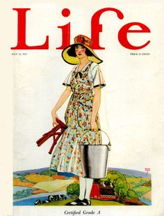 whisters: John Holmgren Cover of Life Magazine. The Milkmaid....