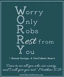 Don't worry and stress it Robs your rest! Faith Quotes, Words Quotes, Bible Quotes, Wise Words, Bible Verses, Scriptures, Qoutes, Lion Quotes, Scripture Journal