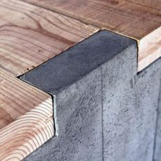 cement-wood table