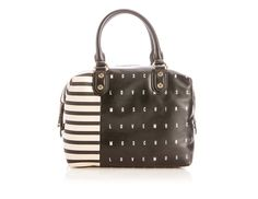Moschino Striped Leather Doctor's Bag