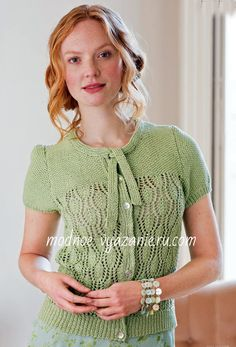The knitter issue 60 july 2013 by Vo Thi Truc Linh - issuu Short Sleeves, Short Sleeve Dresses, Vintage Looks, Free Pattern, Knitting Patterns, Tunic Tops, Chic, Lace, Model