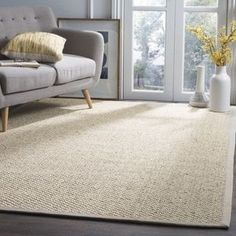3x5 for entry? | Shop for Safavieh Casual Natural Fiber Chunky Basketweave Marble Ivory / Taupe Sisal Rug. Free Shipping on orders over $45 at Overstock.com - Your Online Home Decor Outlet Store! Get 5% in rewards with Club O! - 15002099